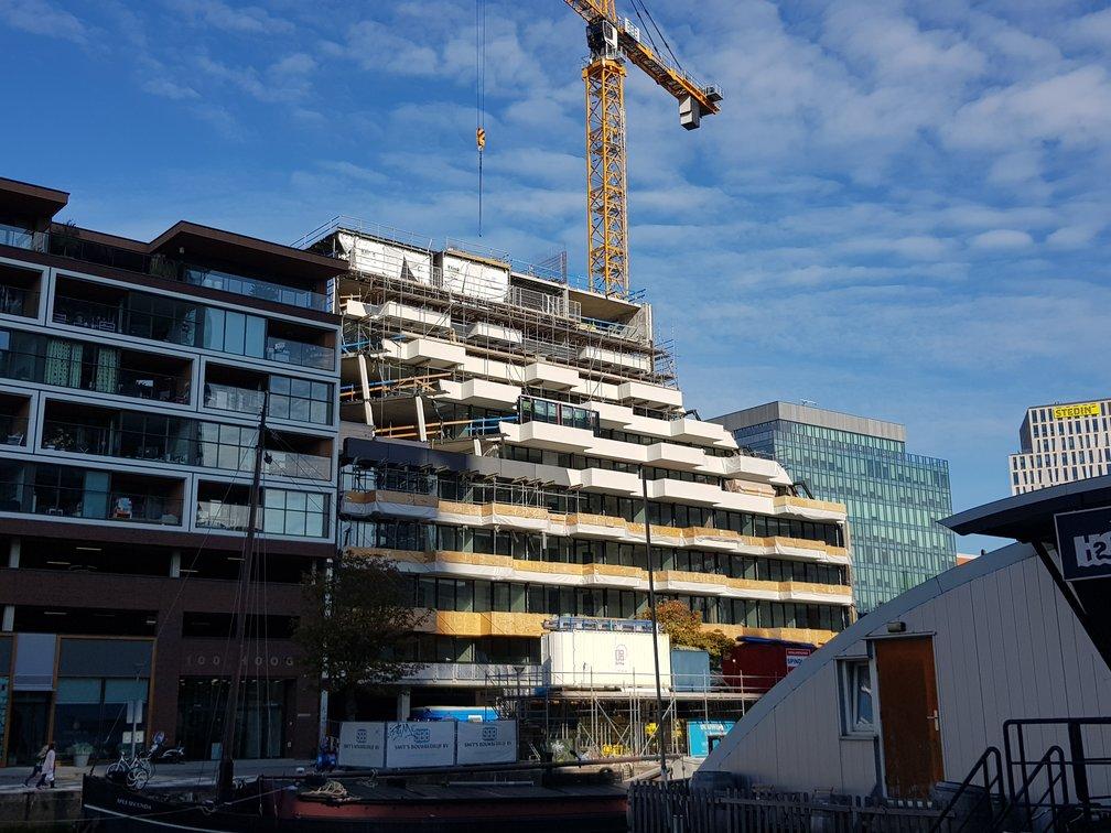 De belijning van woontoren The Muse in Rotterdam krijgt vorm!