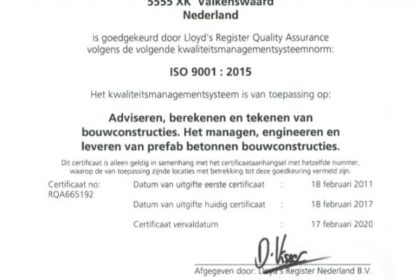 ISO Certificaat 2017